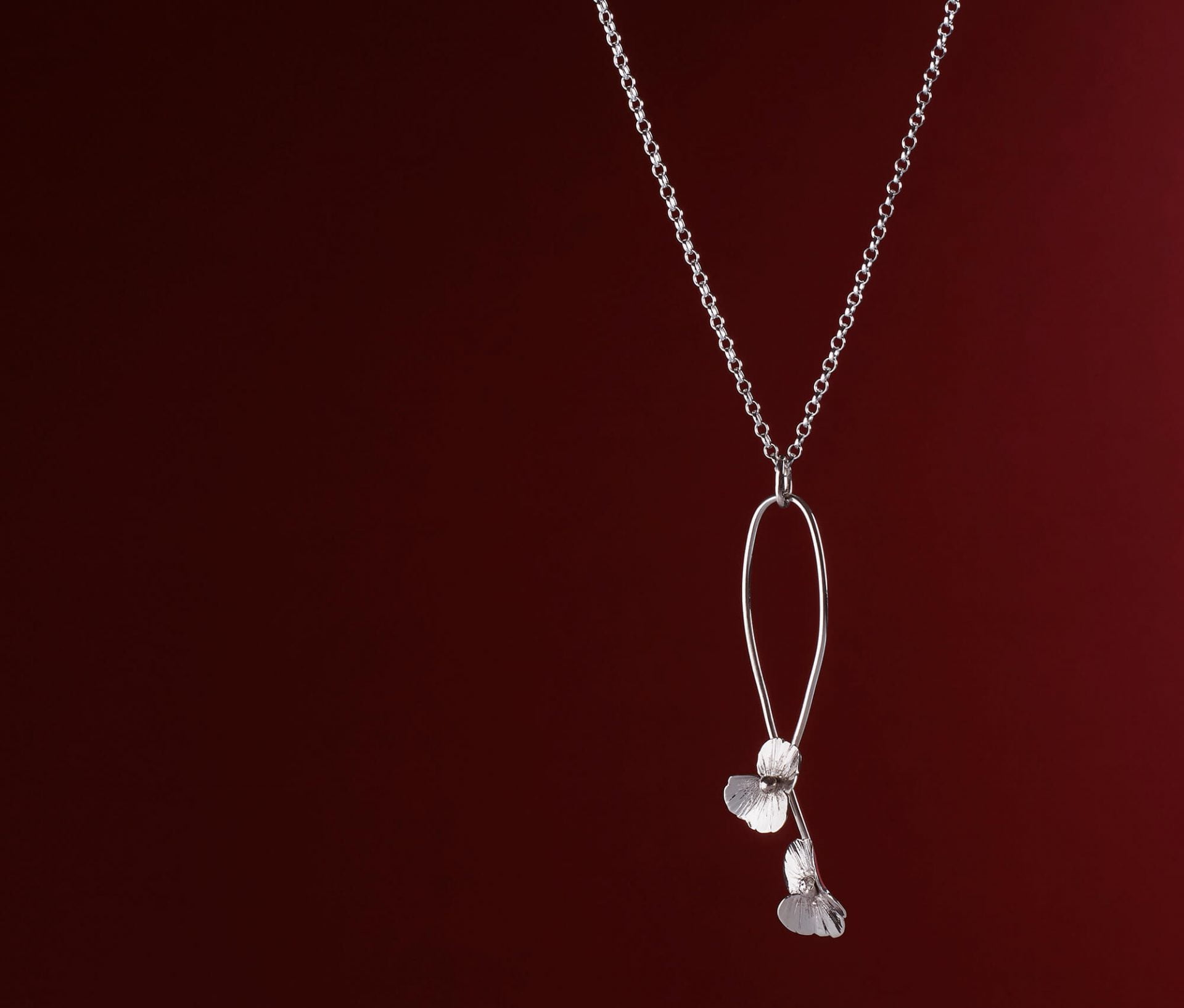 Jewellery necklace product photography