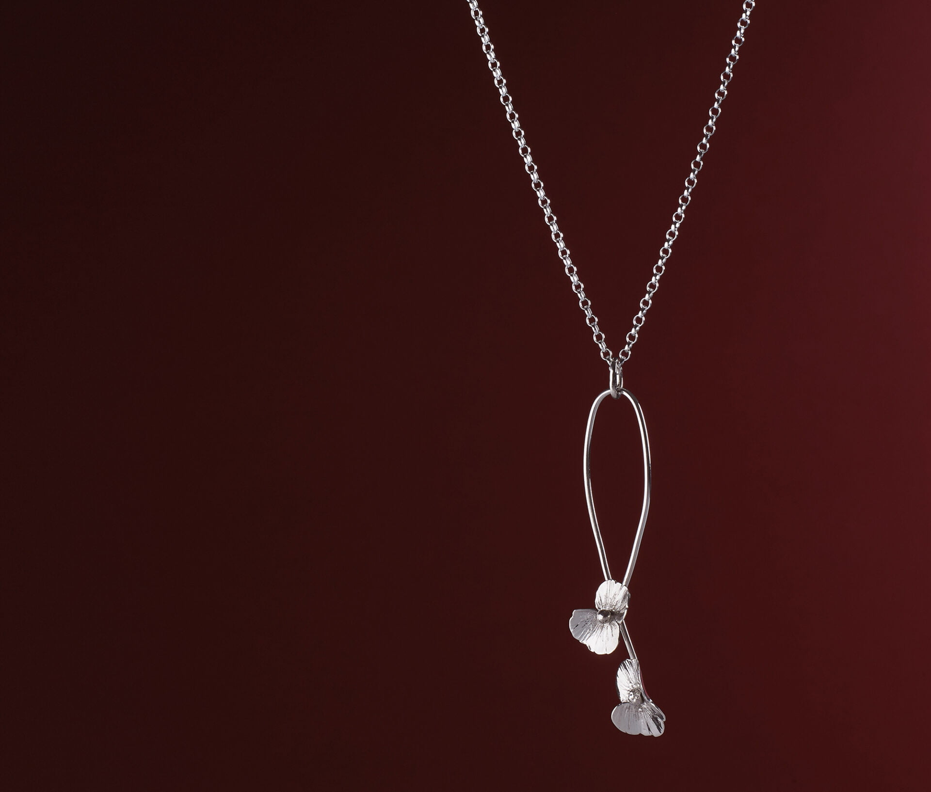 commercial Jewellery photography Birmingham hand made silver poppy